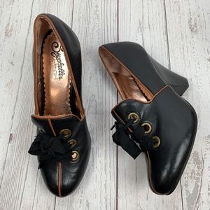 Seychelles Black Leather Lace Up From Pumps **